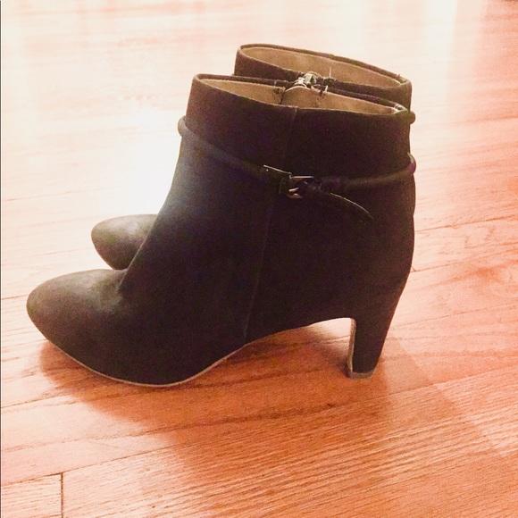 719df09ce00d0 Ecco Shoes | Black Suede Ankle Boots | Poshmark